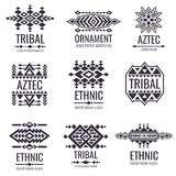 Tribal aztec vector pattern. Indian graphics for tattoo designs royalty free illustration