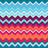 Tribal aztec zigzag seamless pattern Stock Photography