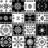 Tribal background, set of ethnic elements Royalty Free Stock Images