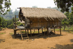 Tribal Bamboo Hut. Bamboo hut in a hill tribe village in the mountains of Thailand Stock Images
