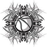 Tribal Basketball Ball Vector Logo royalty free illustration