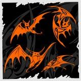 Tribal Bat. Royalty Free Stock Photos