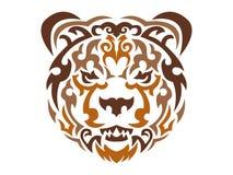 Tribal bear illustration Stock Photography