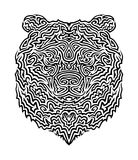 Tribal Bear Vector Illustration Royalty Free Stock Photos