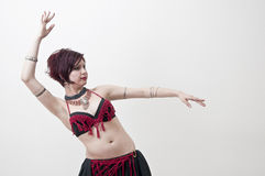 Tribal belly dancer Royalty Free Stock Images