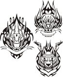 Tribal bikes. Royalty Free Stock Images