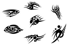 Tribal bionic tattoo pack 2. Vectorial tattoos. Tribal tattoos Stock Photography