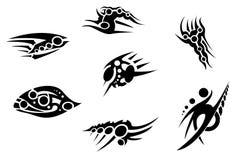 Tribal bionic tattoo pack 2 Stock Photography