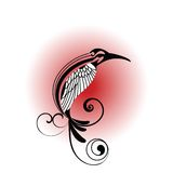 Tribal Bird. Tribal stylized bird  with wing and tail Stock Images