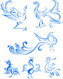Tribal bird tattoo illustration Stock Photos