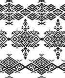 Tribal  black and white seamless pattern Stock Images