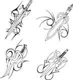 Tribal blade designs Royalty Free Stock Image