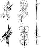 Tribal blade designs Stock Photos