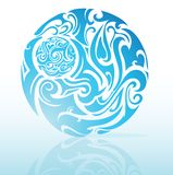 Tribal blue Royalty Free Stock Photo