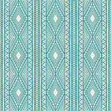 Tribal blue and beige pattern Royalty Free Stock Images