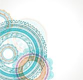 Tribal Bohemian Mandala background with round