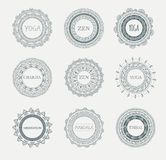 Tribal, Bohemian Mandala background with round Stock Photo