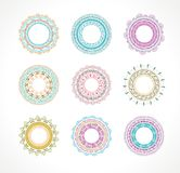 Tribal, Bohemian Mandala background with round Royalty Free Stock Photos