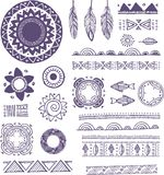 Tribal, Bohemian Mandala background with round Royalty Free Stock Photography