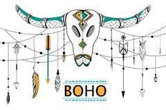 Tribal boho style background Stock Photo