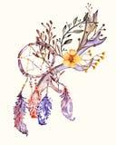Tribal boho style feathers. Stock Image