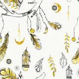Tribal boho style feathers. Stock Images