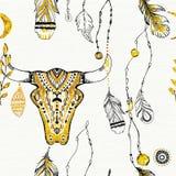Tribal boho style feathers. Stock Photography