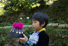 Tribal boy. Thailand asian boy tribe culture costume tribal indigenous Stock Photo