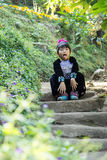 Tribal boy. Thailand happy asia traditional hill child culture costume Stock Photography