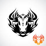 Tribal bull tattoo Stock Photo
