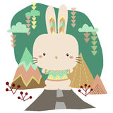 Tribal Bunny Royalty Free Stock Images