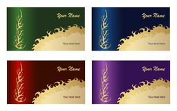 Tribal business card2 Royalty Free Stock Photography