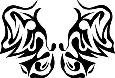 Tribal butterfly Royalty Free Stock Image