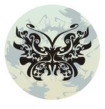 Tribal butterfly in a circle Stock Photography