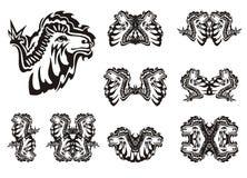 Tribal camel symbols  on a white background Stock Images