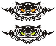 Tribal cat eyes. Vector tribal cat eyes ready for a tattoo, graphics on the vehicle, also for labels, stickers and T-shirt designs Royalty Free Stock Photos
