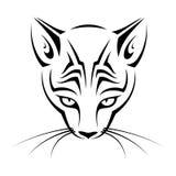 Tribal cat head Stock Photography