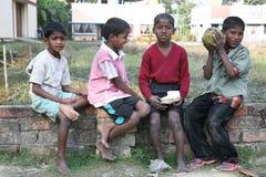 Tribal children in a village Kumrokhali, India Stock Photos