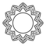 Tribal circle ornament on the white background. Stock Photos