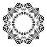 Tribal circle ornament on the white background. Stock Images