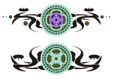Tribal circles Royalty Free Stock Images