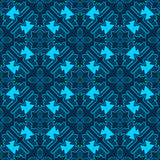 Tribal colored pattern 20. Geometric tribal colored seamless pattern. Saved in swatches Stock Photos