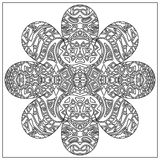 Tribal coloring zentangle Royalty Free Stock Photography