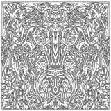Tribal coloring zentangle Royalty Free Stock Photos