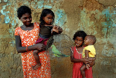 Tribal Community in West Bengal Stock Photography