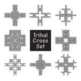 Tribal cross set Stock Photos