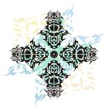 Tribal cross splashes tattoo Royalty Free Stock Photos