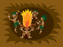 Tribal dance 1 Royalty Free Stock Photography