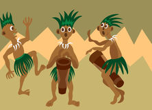 Tribal dance 2 Royalty Free Stock Images