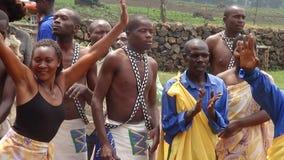 Tribal dance. Dancers preforming for visitors in Rwanda Village Stock Images